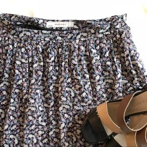 Zara Floral Color Skirt